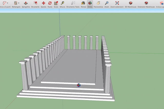 TUTORIAL – DISEGNARE IL PARTENONE IN 3D: LE COLONNE